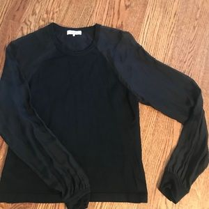 Parker by black sweater with see thru sleeves